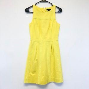 J. Crew Pique Lace Yellow Summer Dress